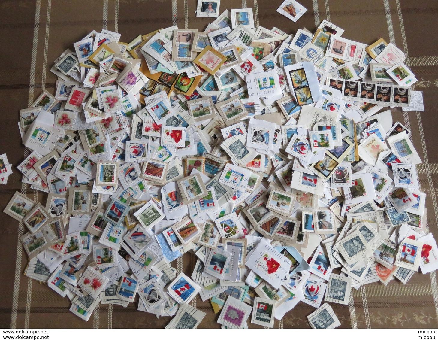 ##S2, Canada, Vrac, Plus De 1000 Timbres Diversifiée, More Than 1000 Diversified Stamps - Timbres