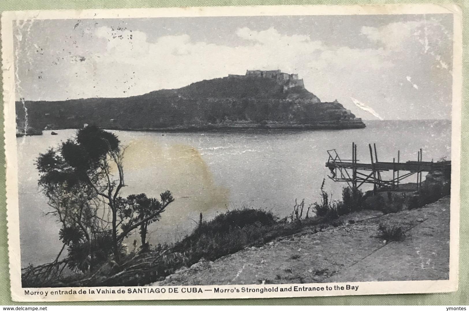Postcard Circulated 1934 PAQUEBOT Bahia Santiago De Cuba - Honduras