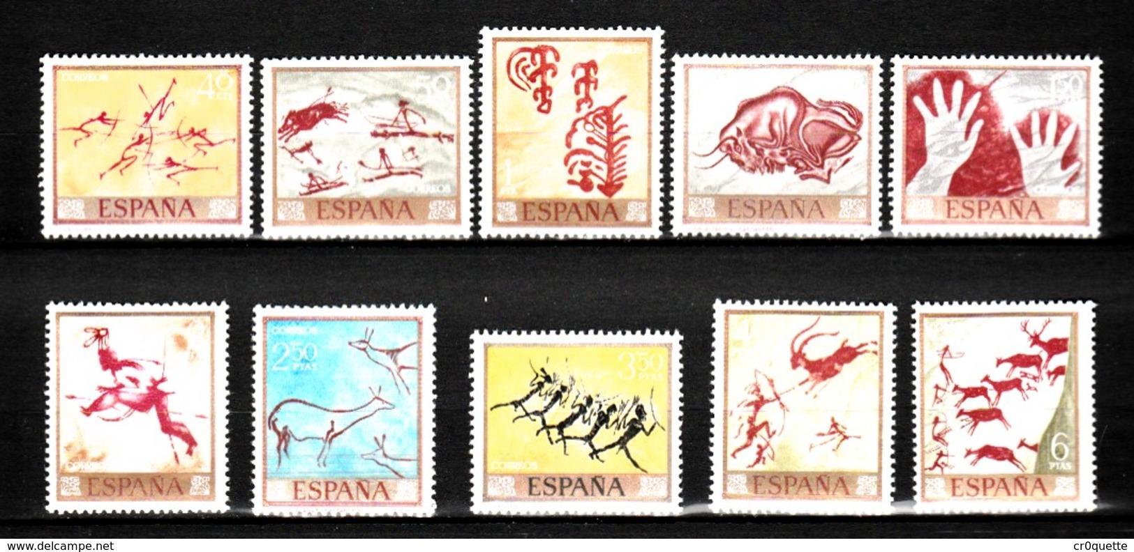 ESPAGNE / SERIE DE 10 TIMBRE PREHISTOIRE - Stamps