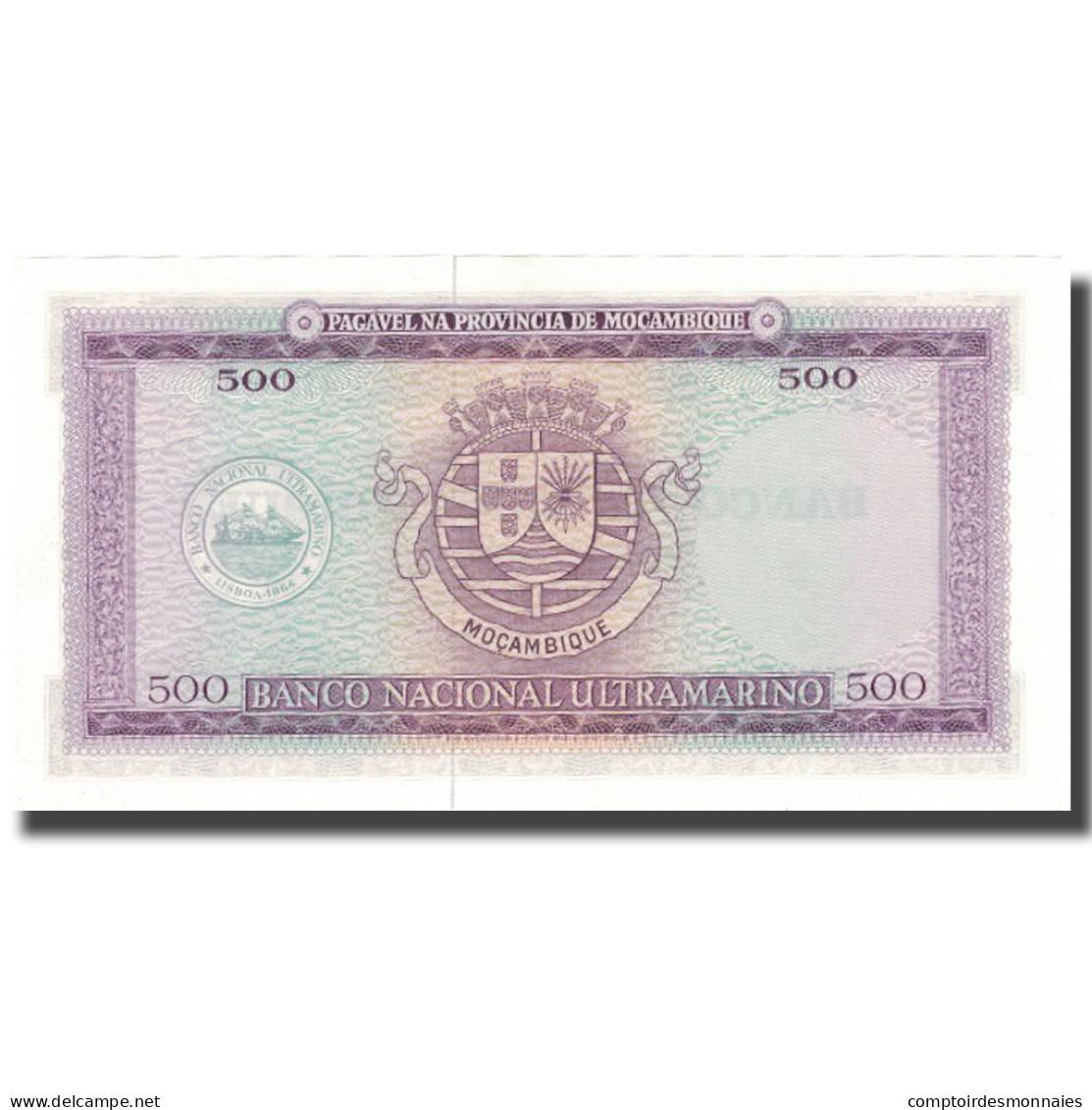 Billet, Mozambique, 500 Escudos, 1967, 1967-03-22, KM:118a, NEUF - Mozambique
