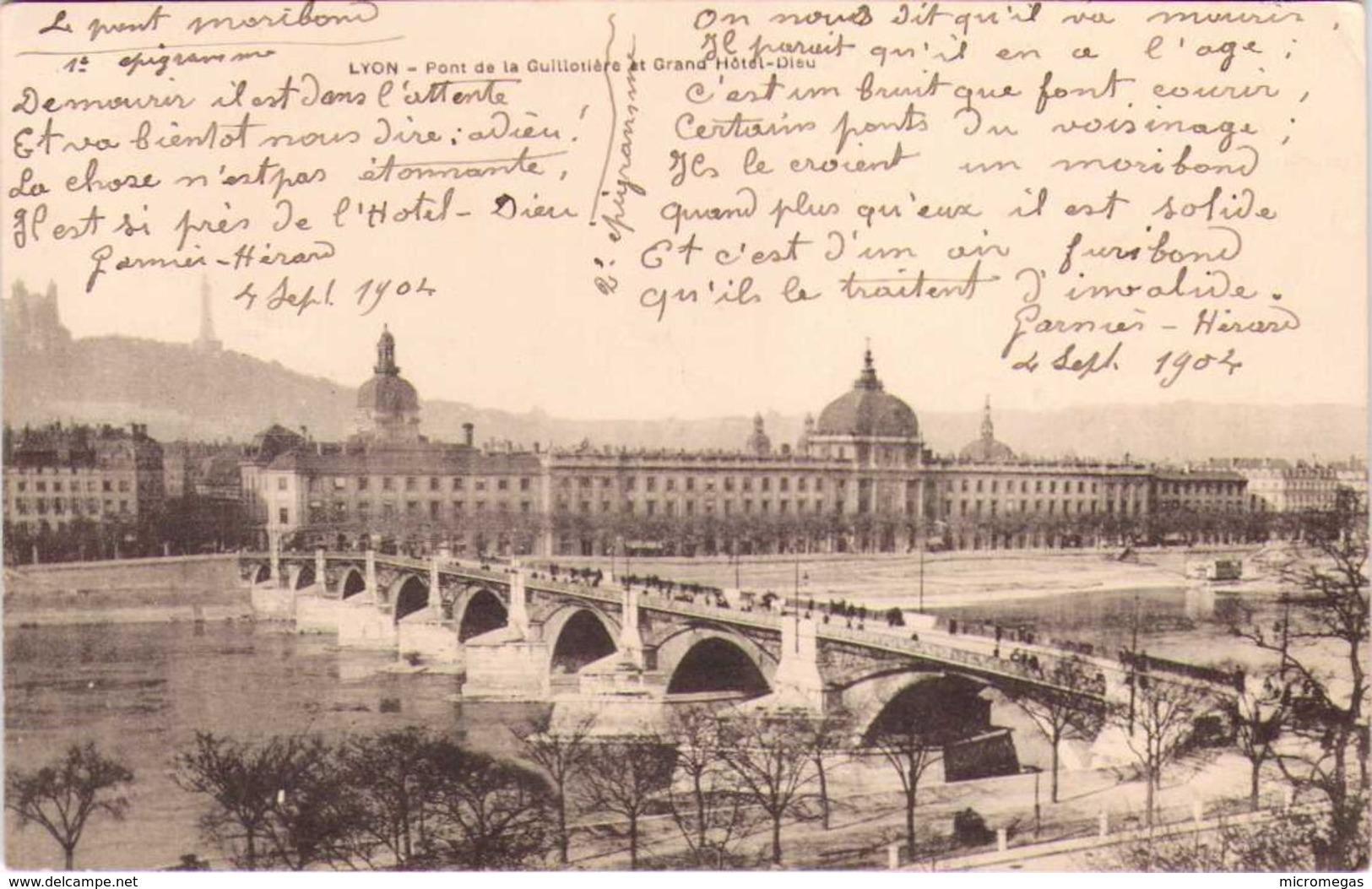 69 - LYON - Pont De La Guillotièrevet Grand Hôtel-Dieu - Sonstige