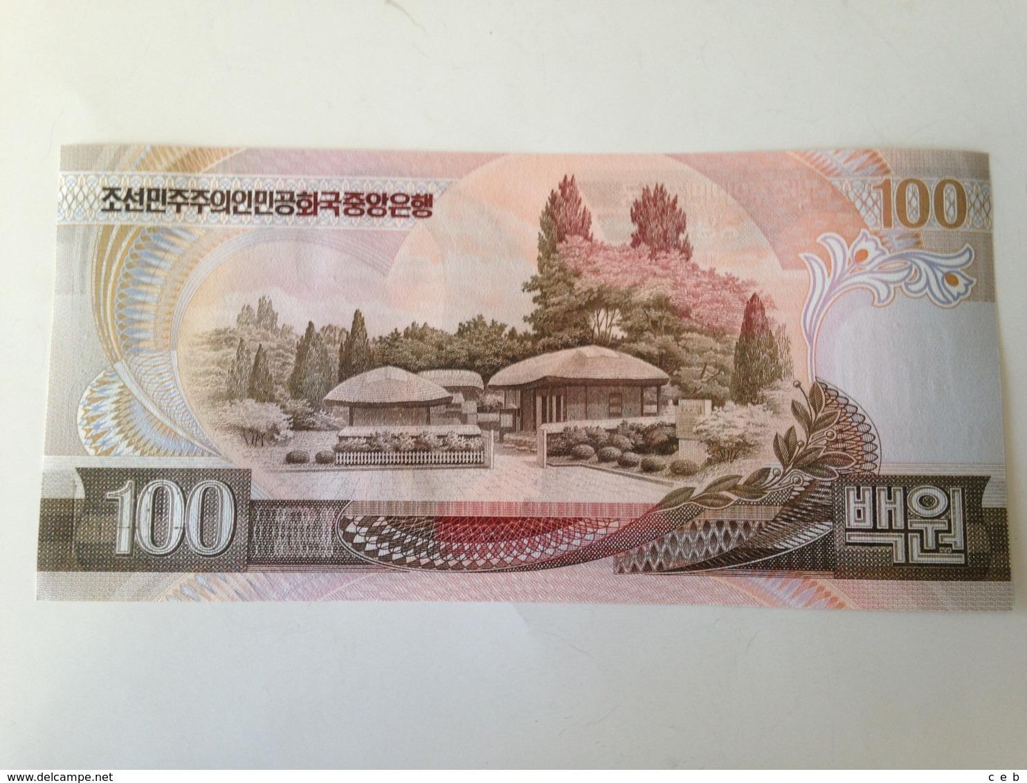 Billete Korea Del Norte. 100 Won. 1992. Comunista. Sin Circular - Corea Del Nord