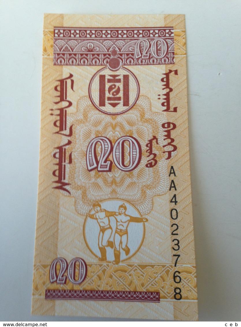 Billete Mongolia. 20 Mongo. 1993. Sin Circular - Mongolia
