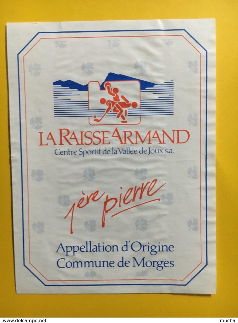 9253 - La Raisse Armand 1ère Pierre Centre Sportif De La Vallée De Joux Suisse - Etiquettes