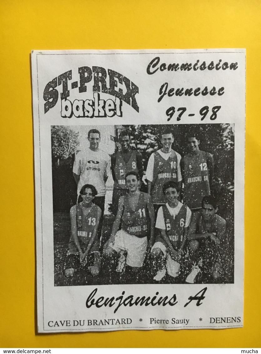 9251 - Basket St-Prex-Basket Commission Jeunesse 96-97 Suisse 4 étiquettes - Etiquettes