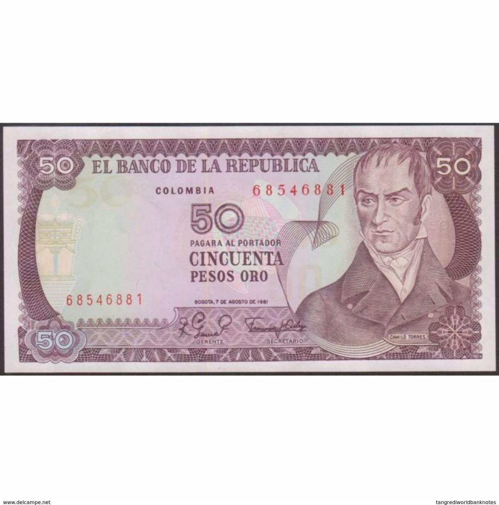 TWN - COLOMBIA 422a2 - 50 Pesos Oro 7.8.1981 UNC - Colombie