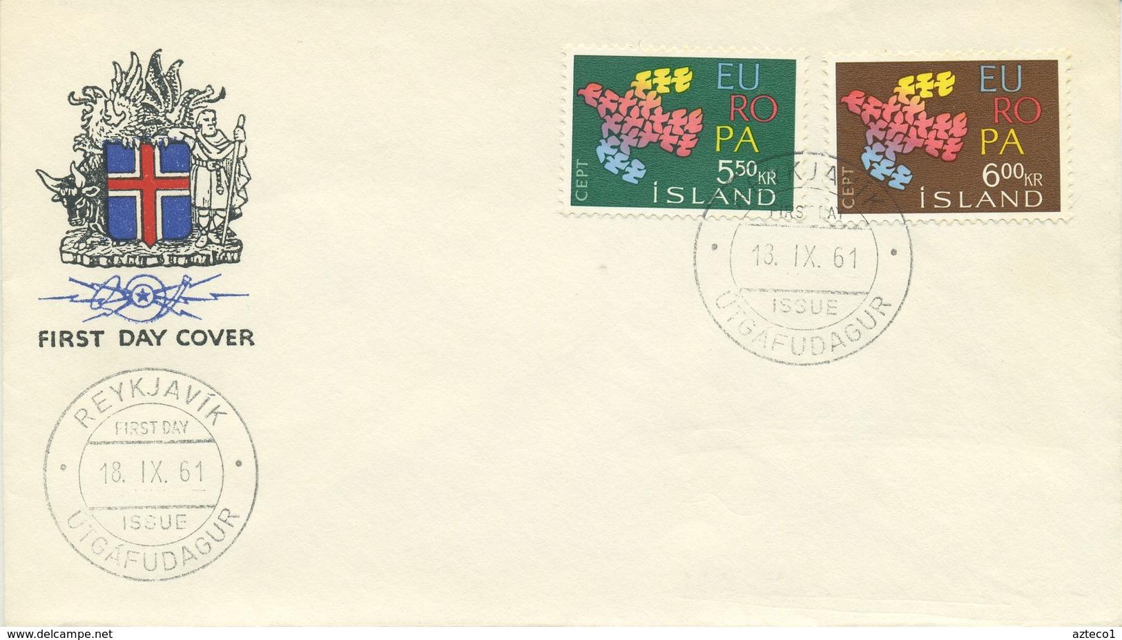 ISLANDA - FDC 1961  - EUROPA UNITA - CEPT - FDC