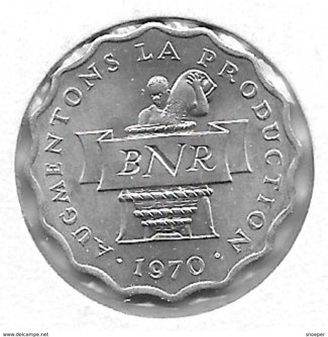 *rwanda 2  Francs 1970 Km 10   Bu !!! - Rwanda