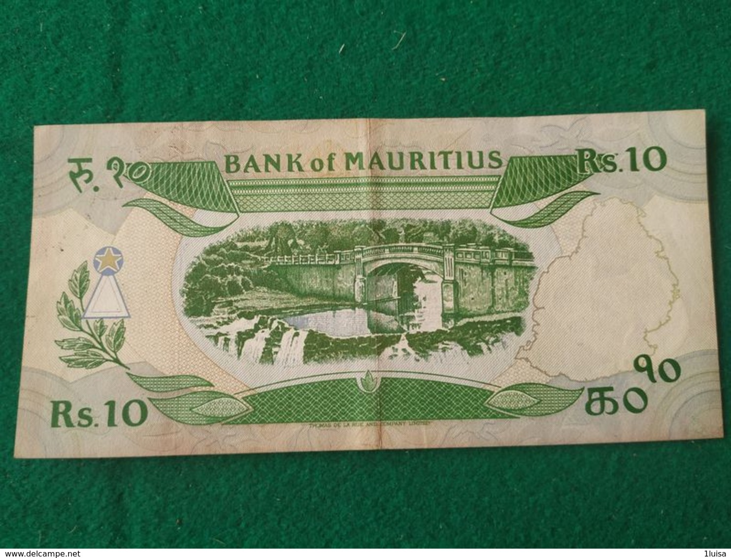 10 Rupees 1986 - Maurice