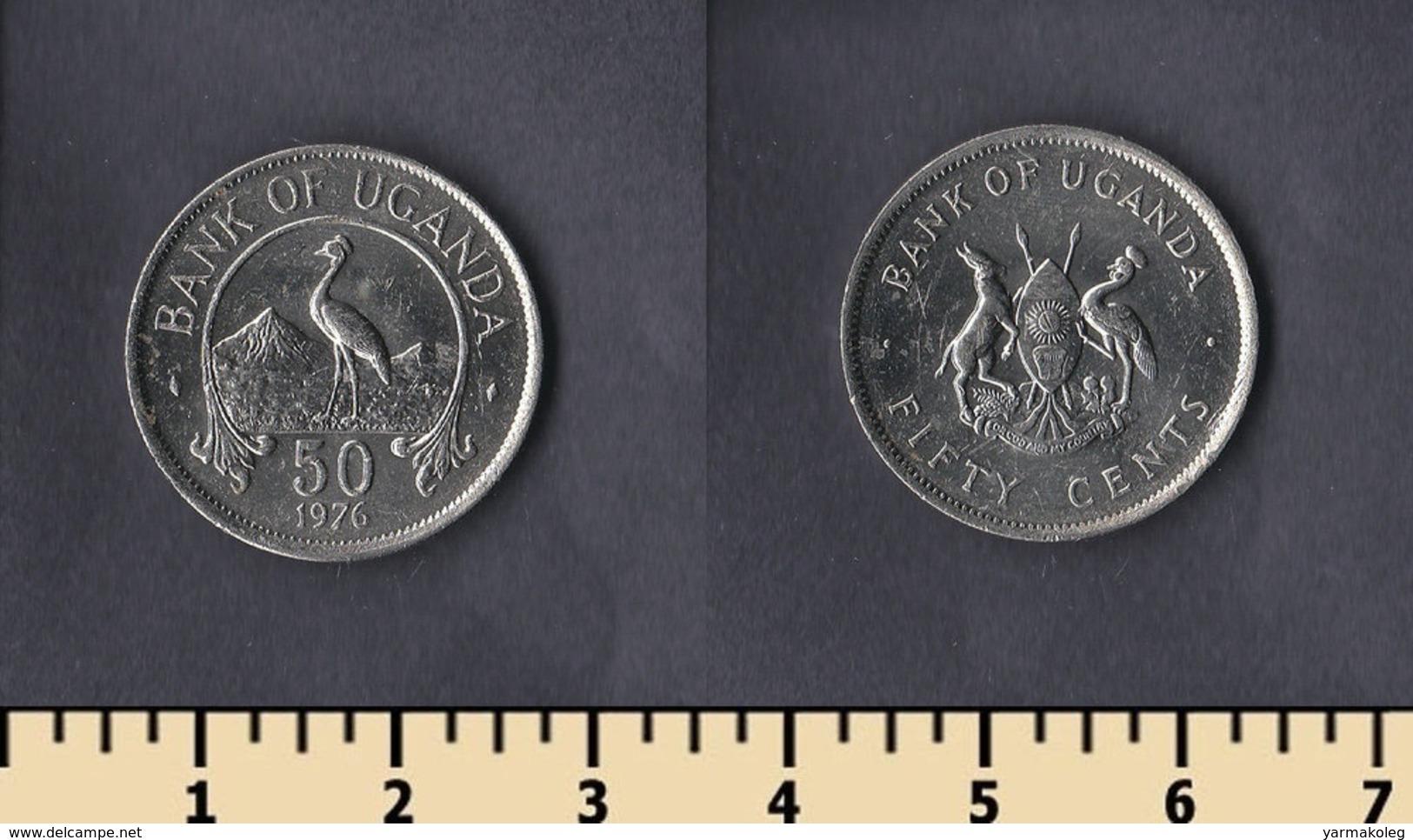 Uganda 50 Cents 1976 - Ouganda