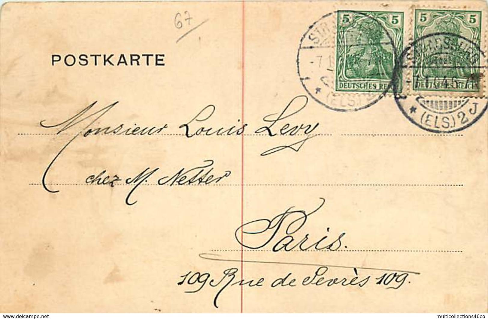 231218 - 67 STRASBOURG Strassburg Synagogue 1904 Judaïsme - Strasbourg