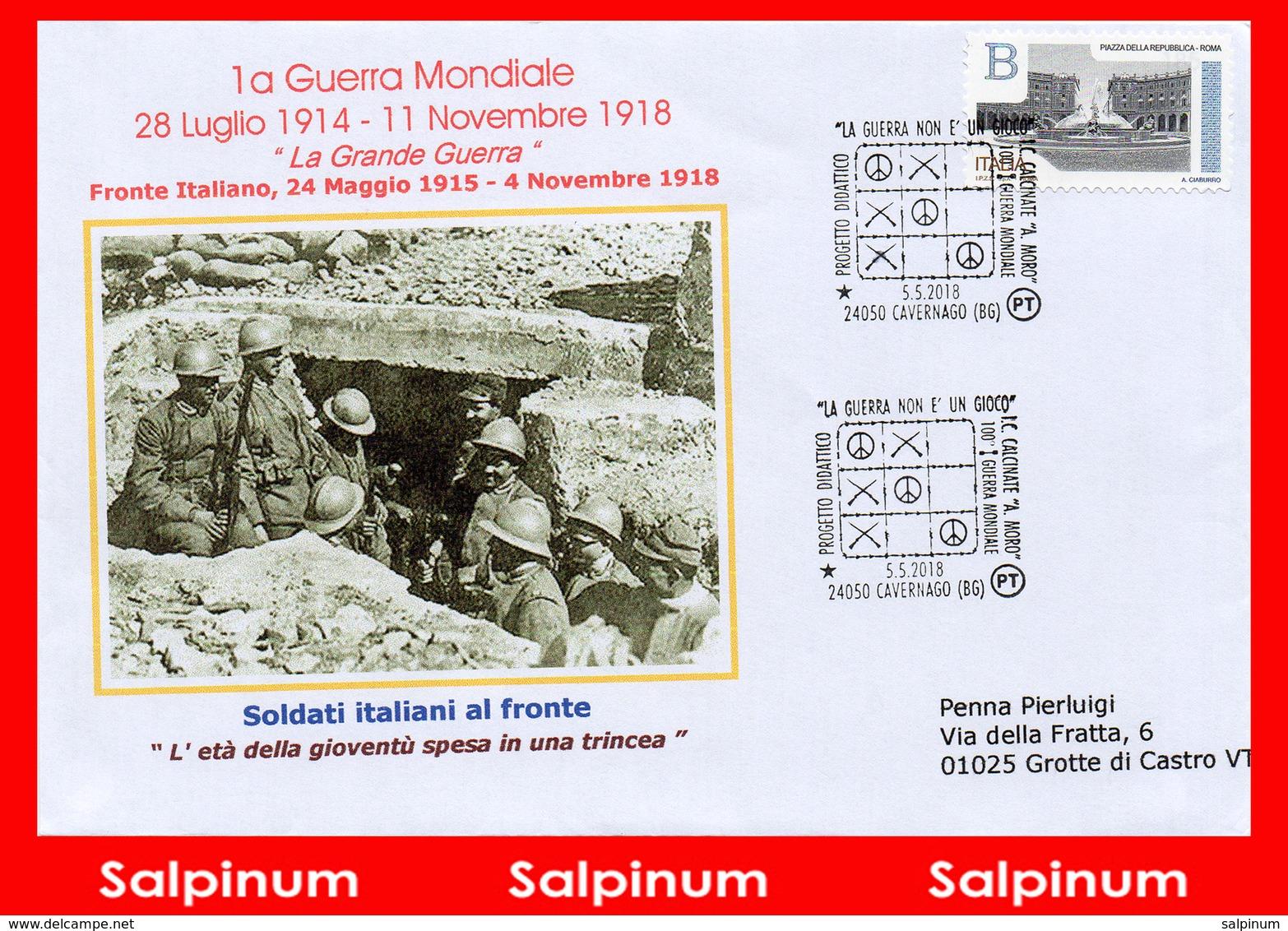 ANNULLO ANNIVERSARIO 100° PRIMA GUERRA MONDIALE – CAVERNAGO - 6. 1946-.. Repubblica