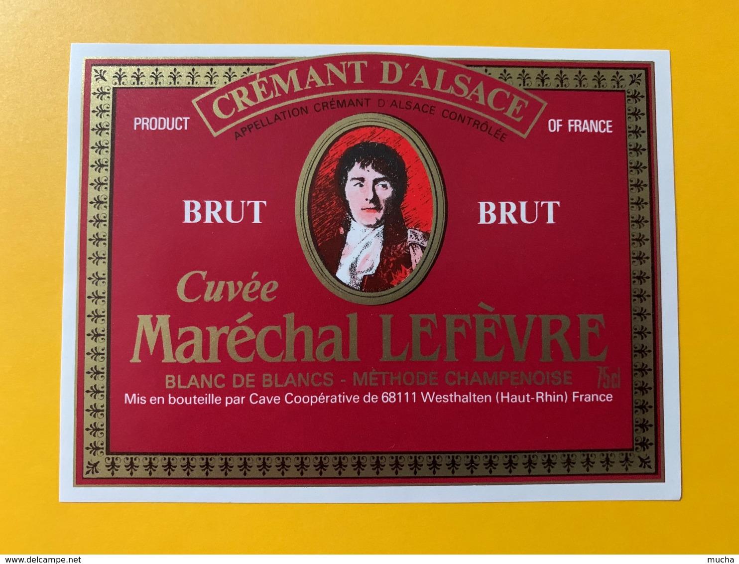 9258 - Crémant D'Alsace Brut Cuvée Maréchal Lefèvre - Etiquettes