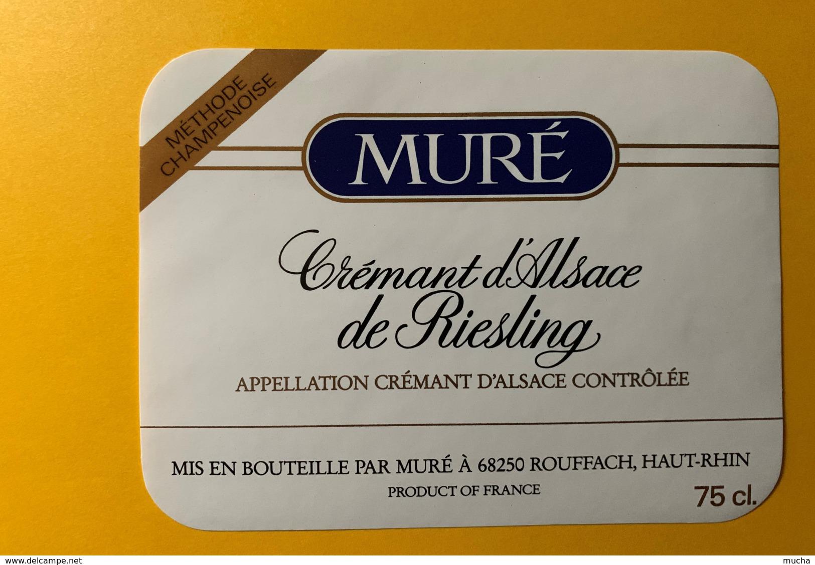 9261- Crémant D'Alsace De Riesling Muré - Etiquettes