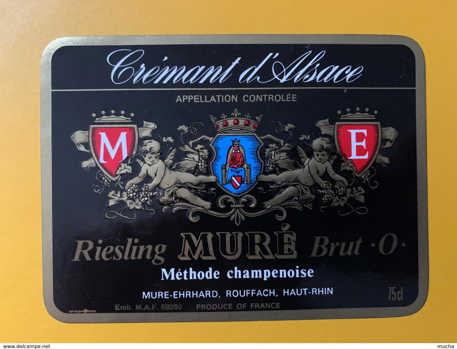 """9262- Crémant D'Alsace  Riesling Muré Brut """"O"""" - Etiquettes"""