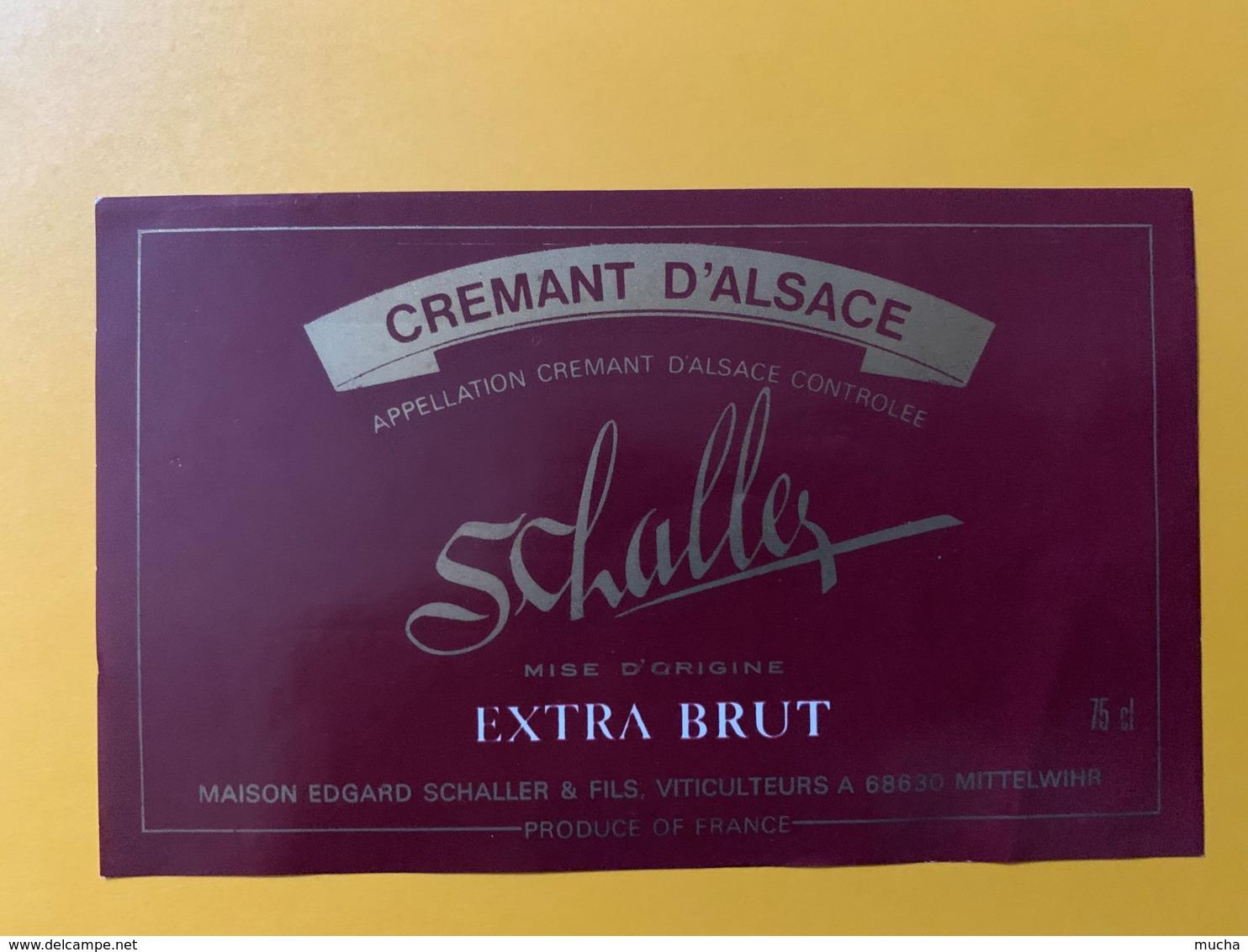 9264 - Crémant D'Alsace  Schaller - Etiquettes