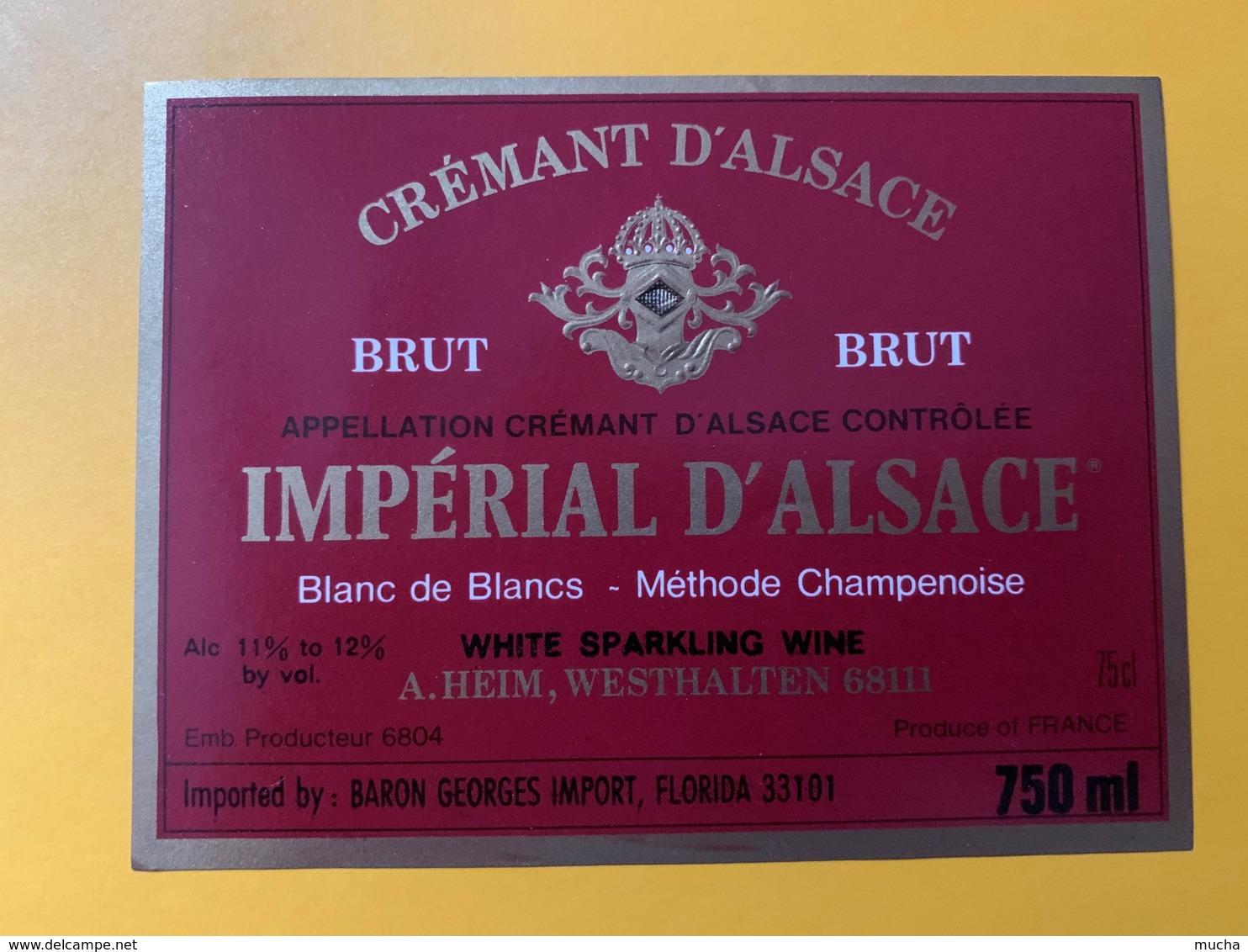 9263- Crémant D'Alsace  Impérial D'Alsace 2 étiquettes - Etiquettes