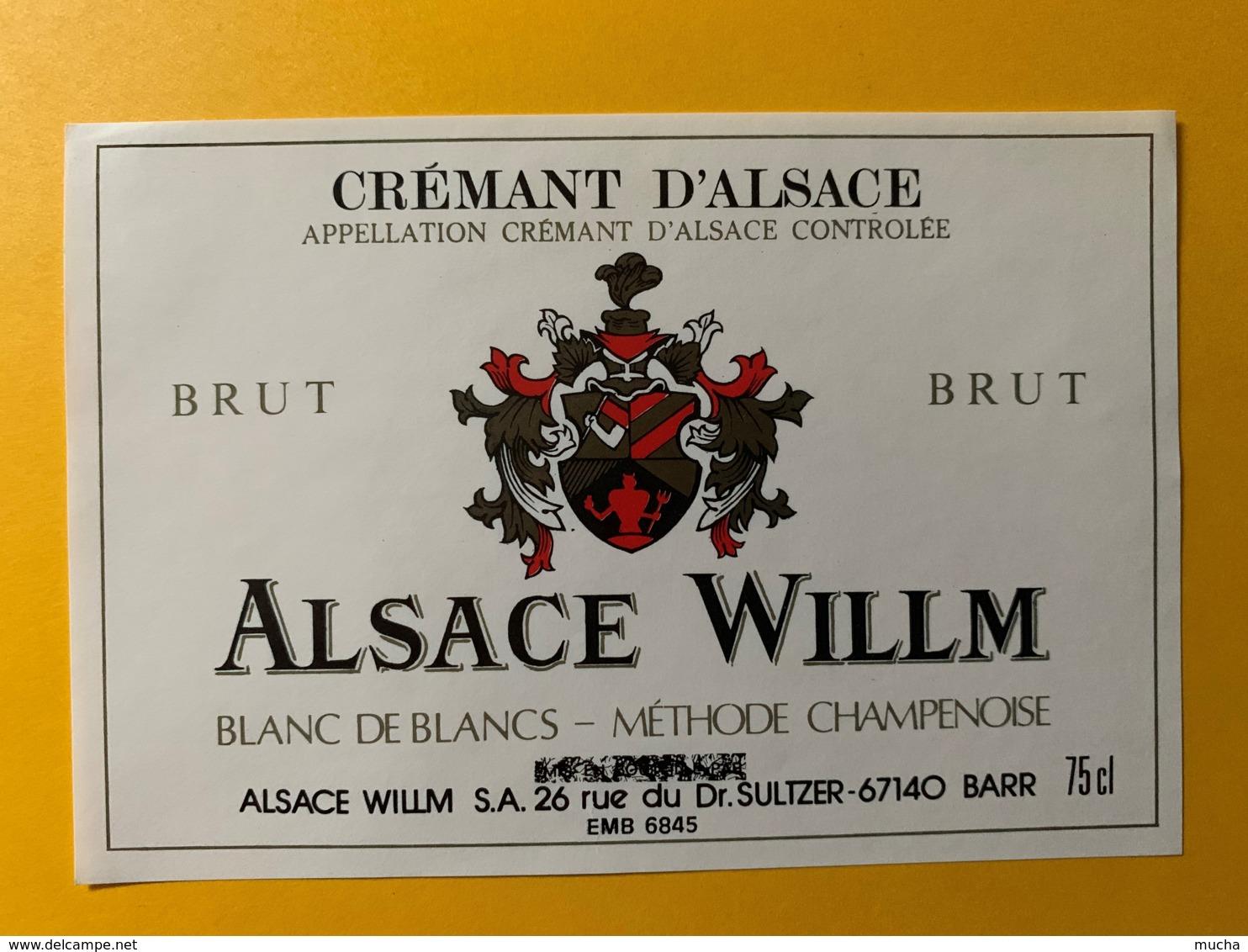 9265 - Crémant D'Alsace  Willm 2 étiquettes - Etiquettes