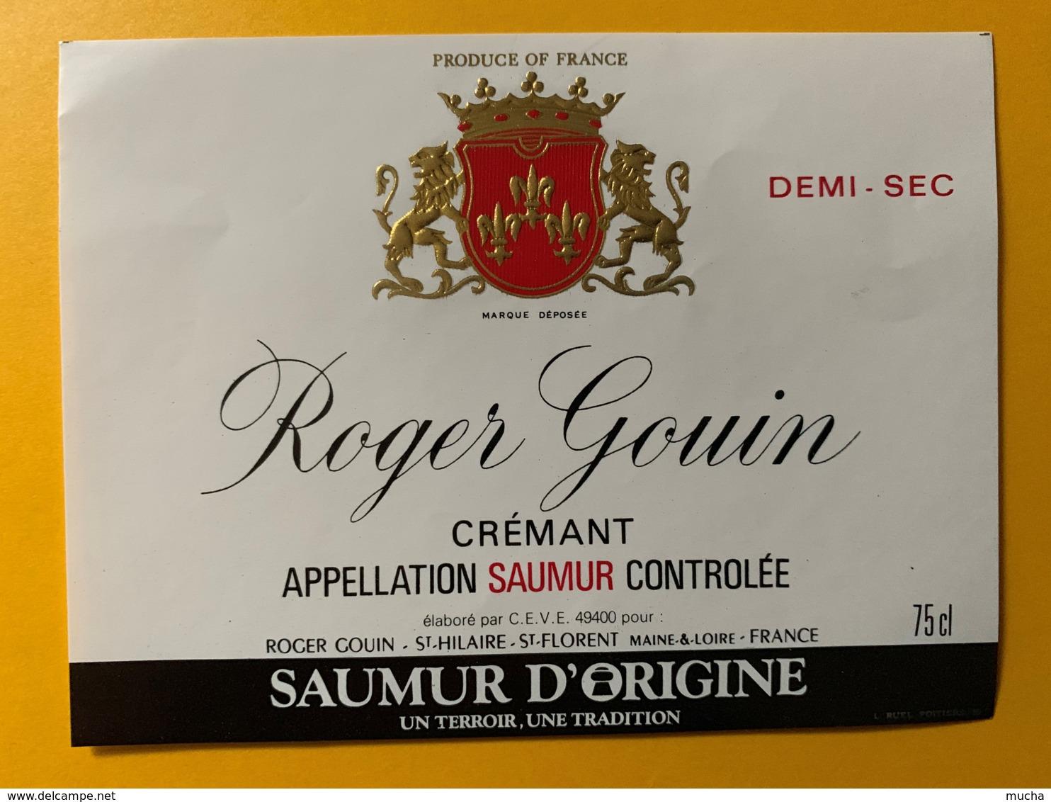 9267 - Roger Gouin Crémant Saumur - Etiquettes