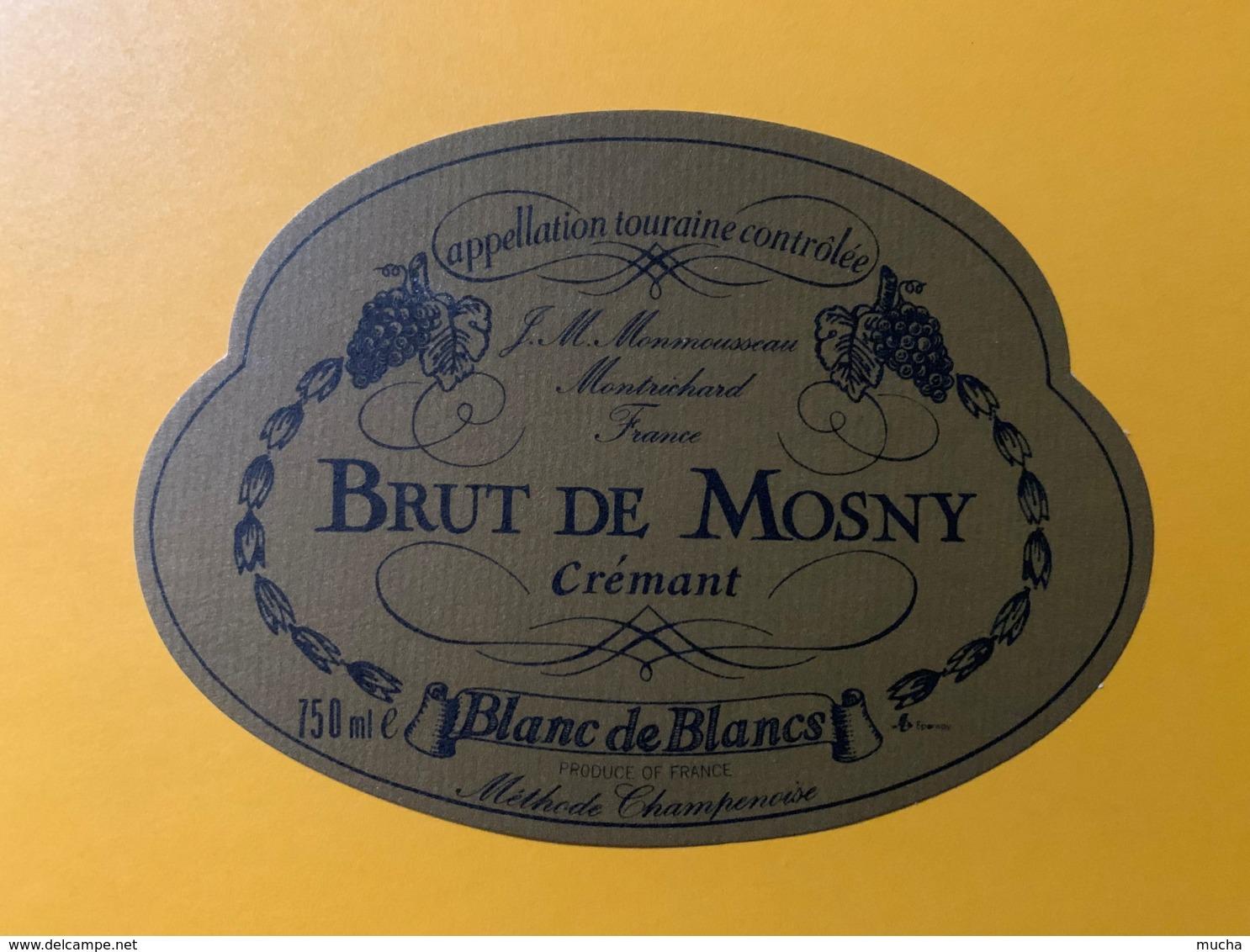 9270 - Vouvray Crémant Brut De Mosny - Etiquettes