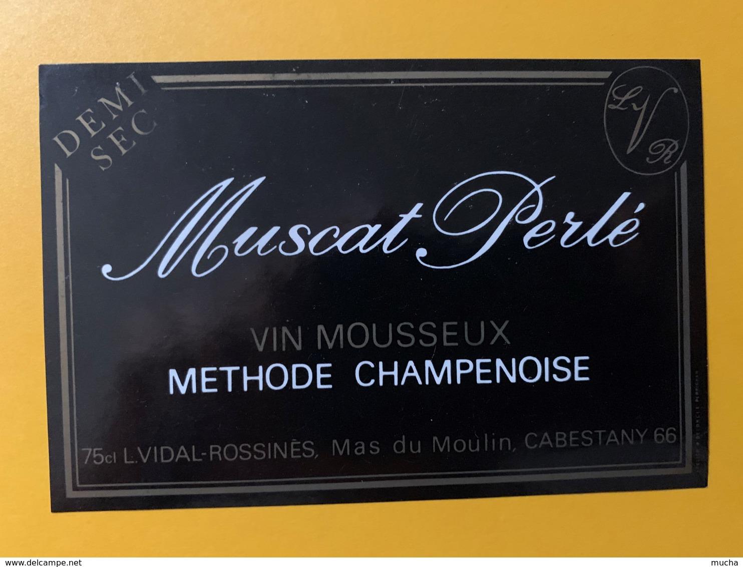 9275 - Muscat Perlé Vin Mousseux Vidal Cabestany - Etiquettes