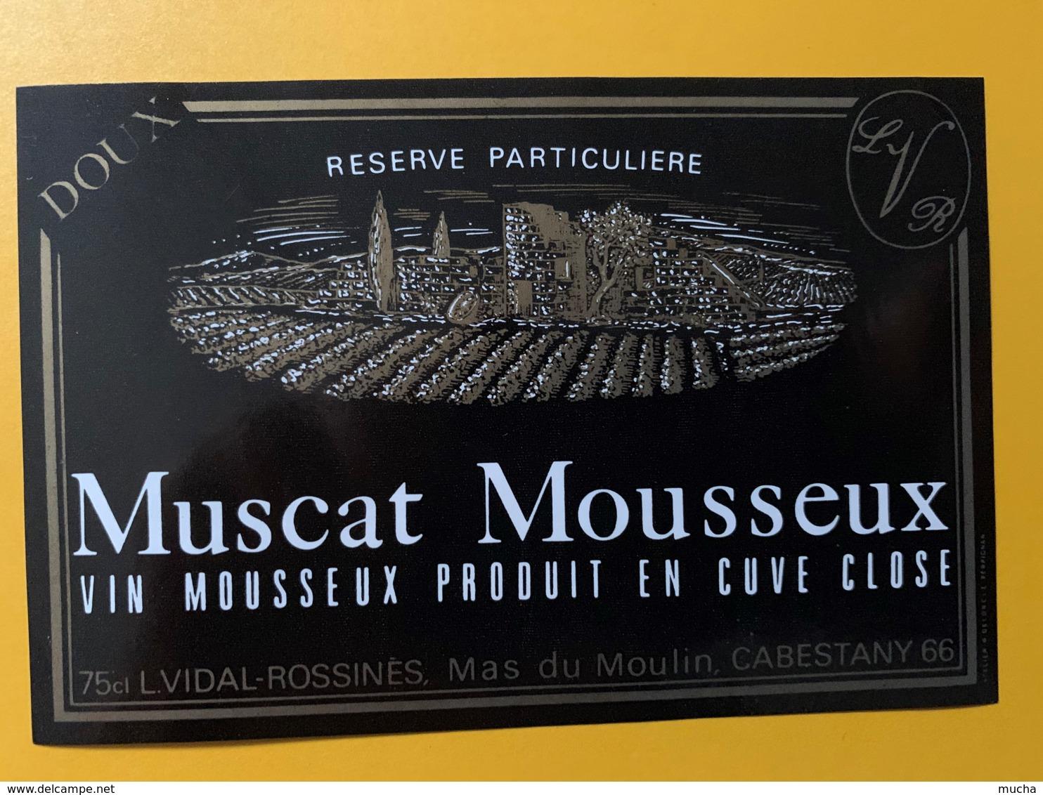 9278 - Muscat Mousseux Vidal Cabestany - Etiquettes