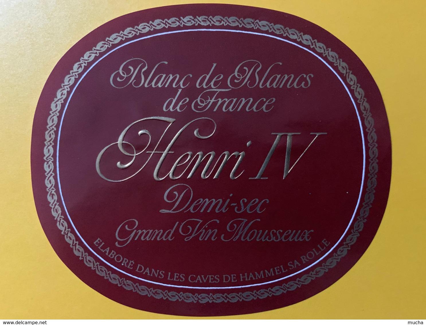9279 - Blanc De Blancs Henri 4 - Etiquettes