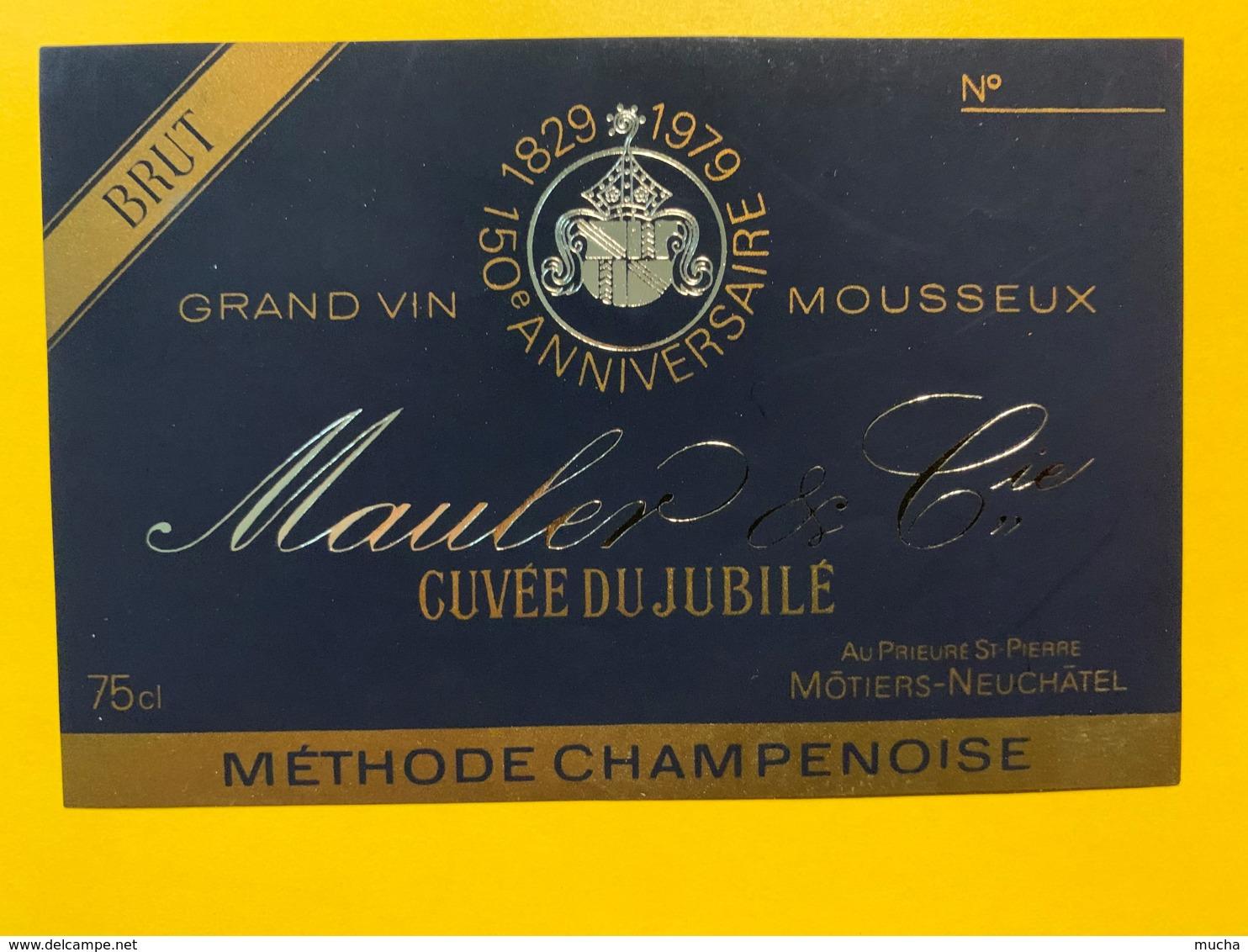 9282 - Grand Vin Du Jubilé 1829 -1979 Méthode Champenoise Mauler Môtiers Suisse - Etiquettes