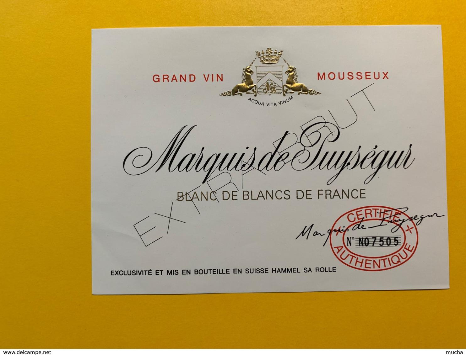 9286 - Vin Mousseux Marquis De Puységur - Etiquettes