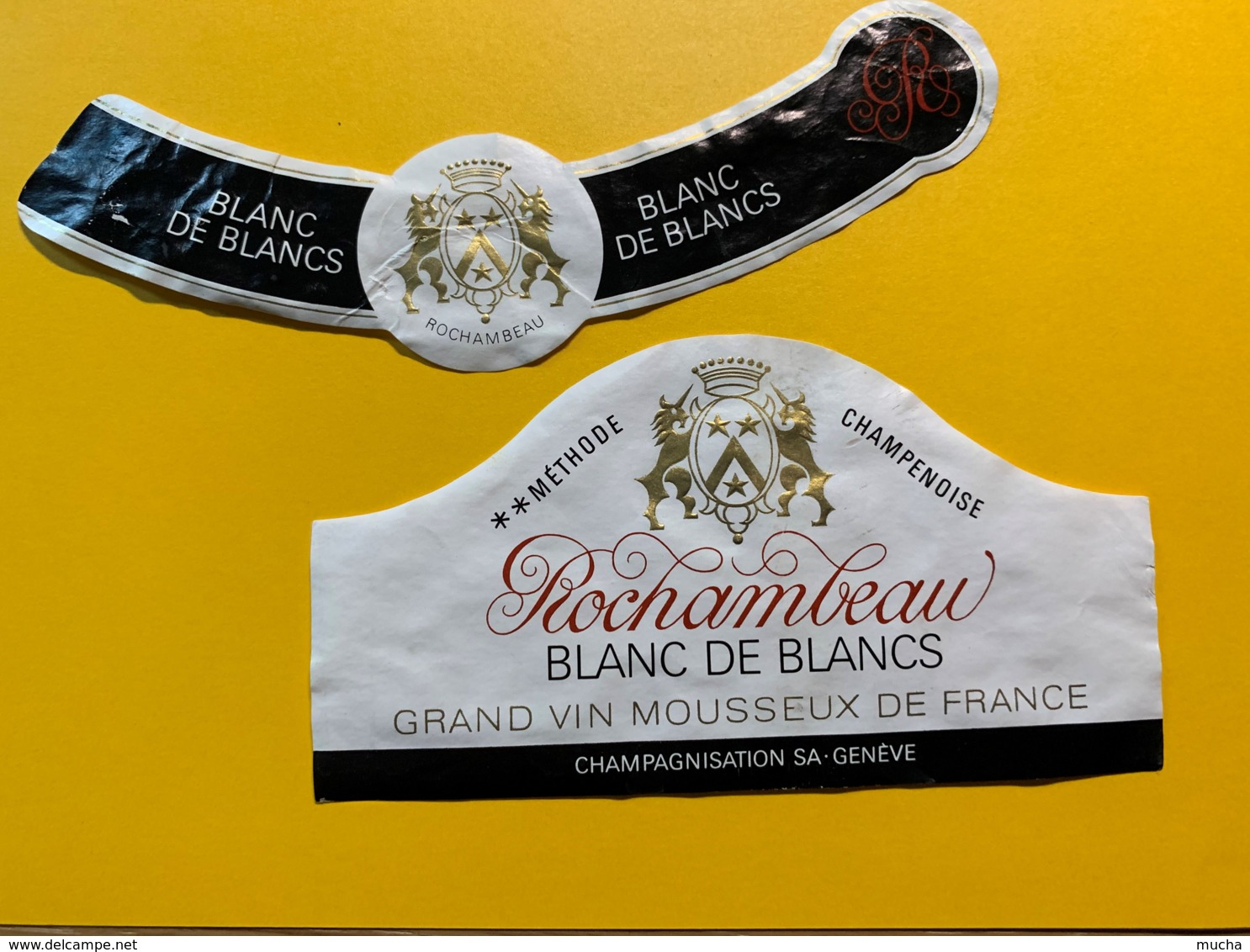 9290 - Vin Mousseux Rochambeau - Etiquettes