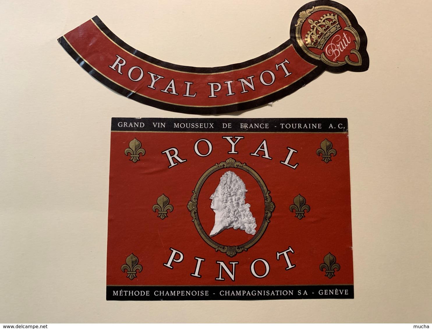 9291 - Grand Vin Mousseux Touraine Royal Pinot - Etiquettes