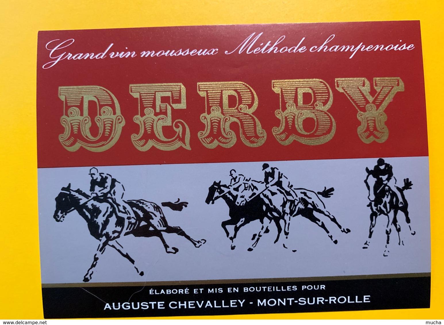 9295 - Grand Vin Mousseux Derby Course De Chevaux Hippisme - Etiquettes