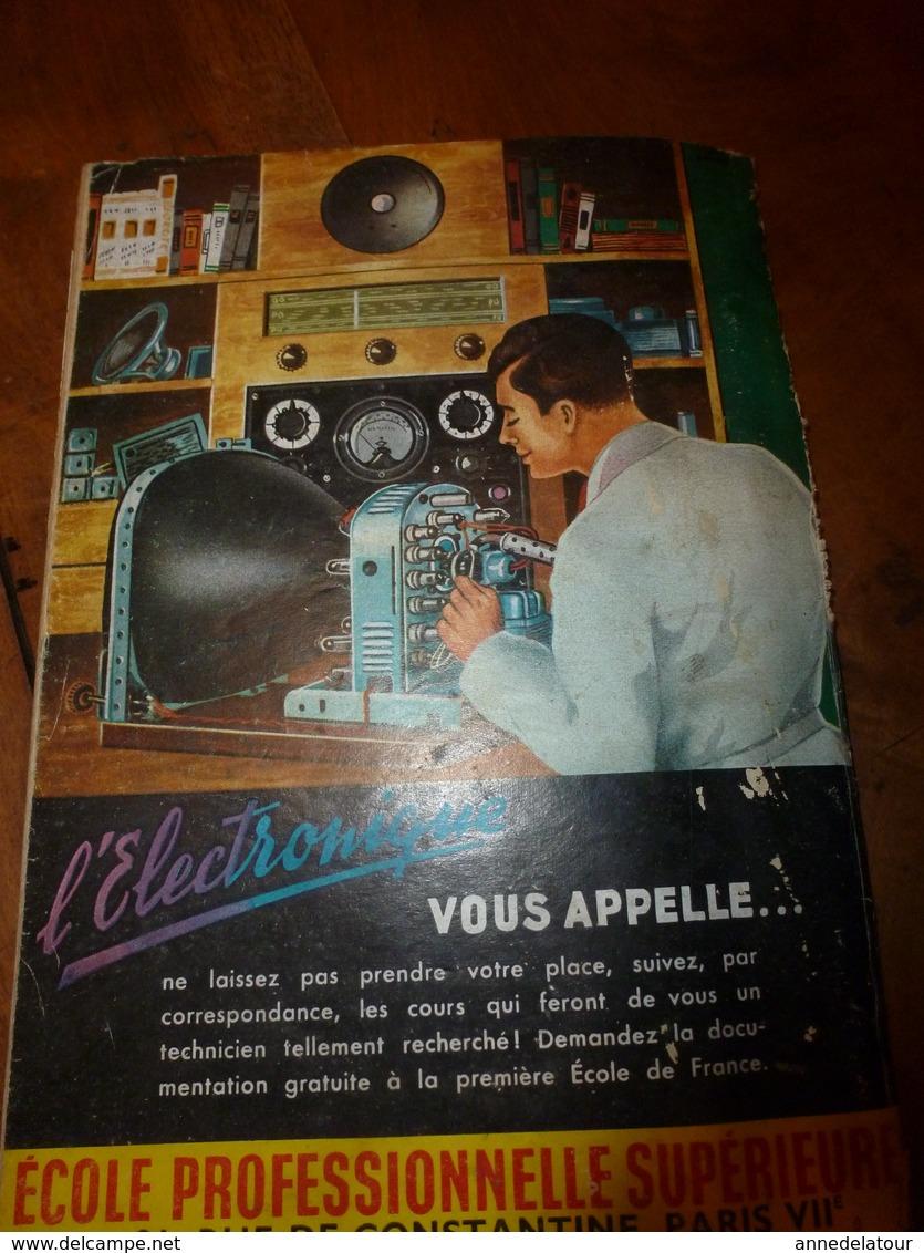 1953 MÉCANIQUE POPULAIRE:Arbre A Musique;Saumon Rouge;Faire Un Cheval à Bascule;Pas Faire Le Malin Avec Un Douanier;etc - Technical