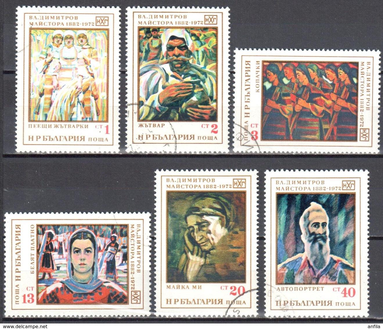Bulgaria 1972 - Paintings - Mi.2151-56 - Used Gestempelt - Gebraucht