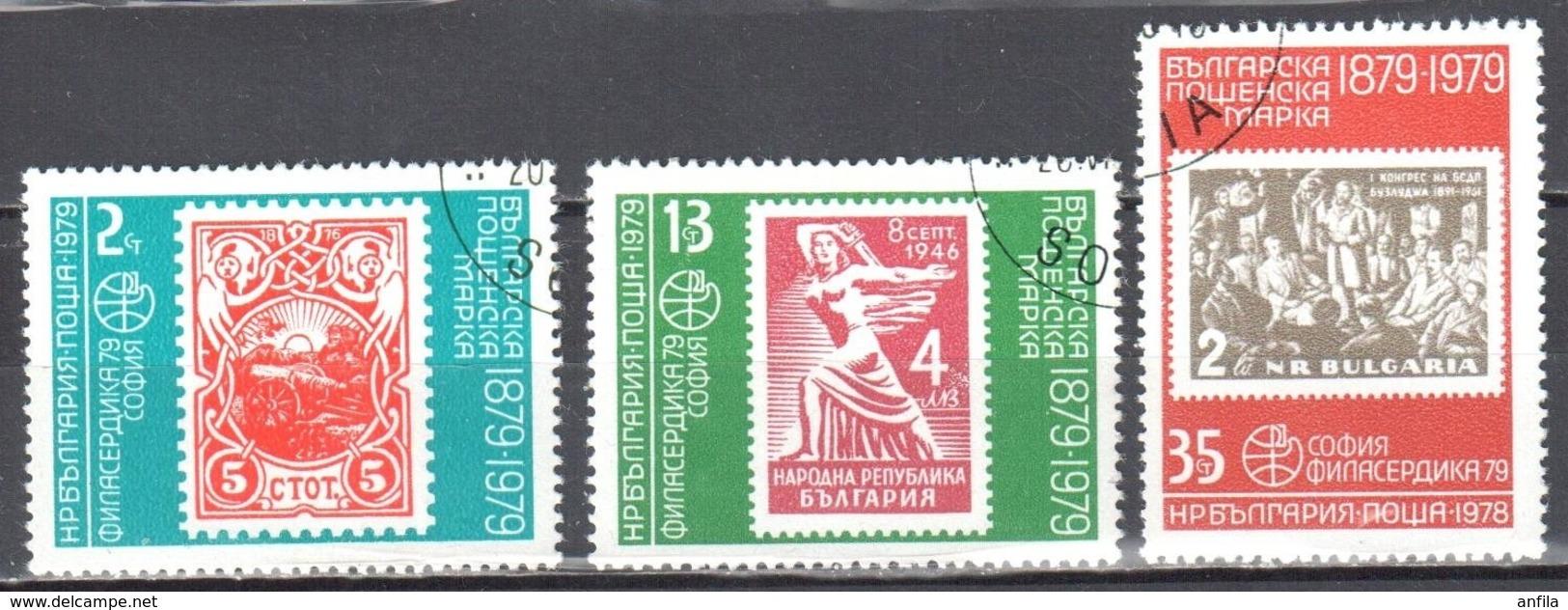 Bulgaria 1978 - Stamps On Stamps - Mi.2747-51 - 3v - Used Gestempelt - Gebraucht