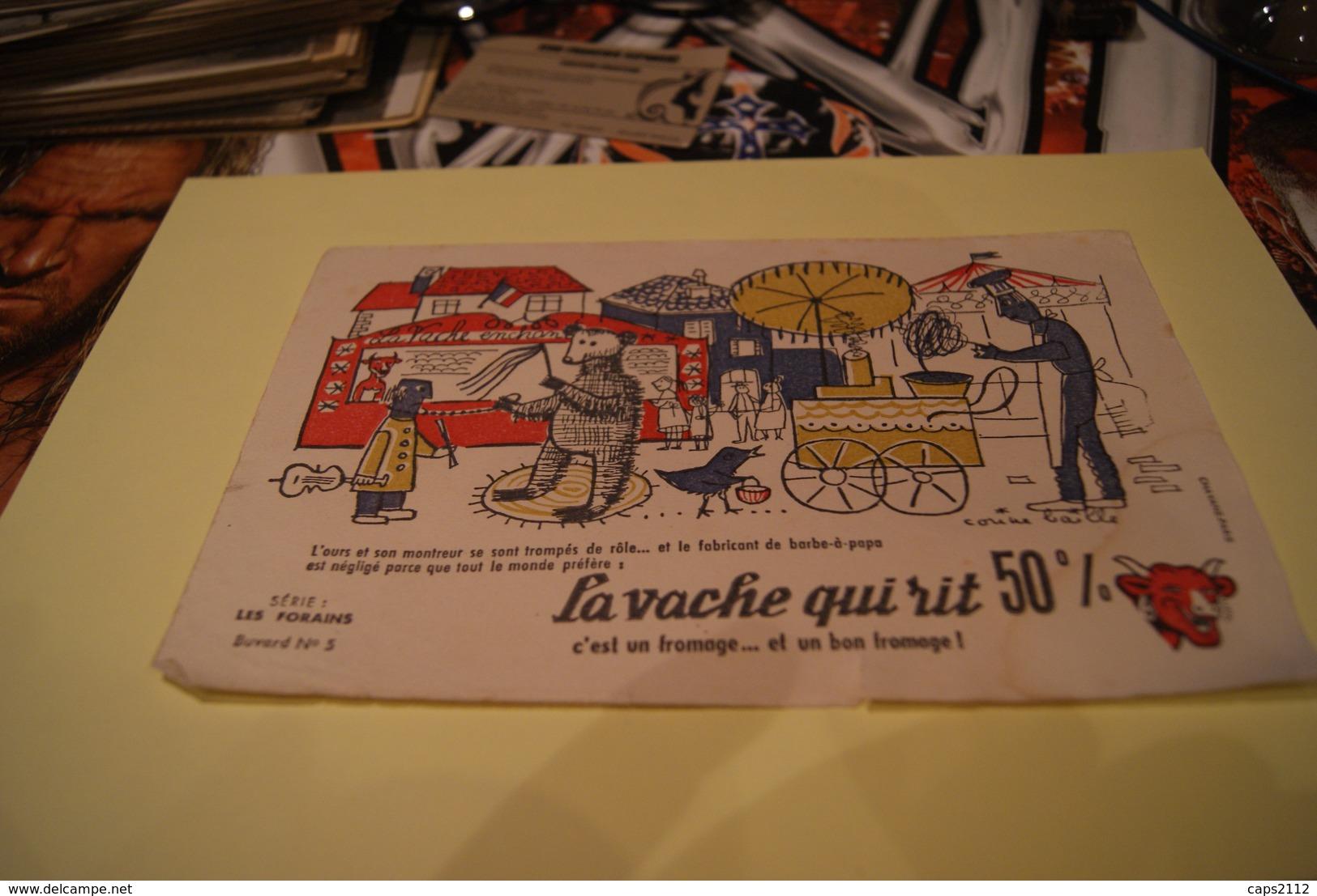LOT ANCIEN BUVARD *la Vache Qui Rit / Serie Les Forains Signe Corinne Baille - Verzamelingen & Reeksen