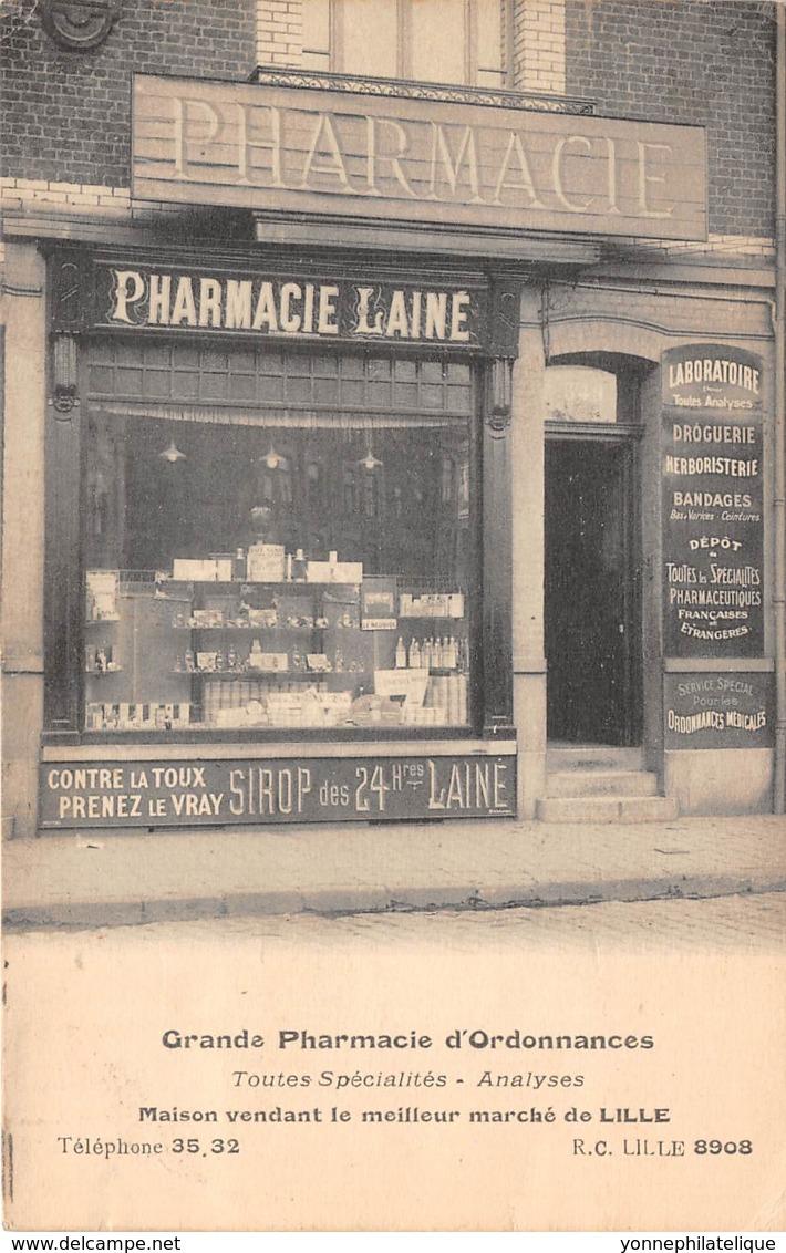 59 - Nord / 10009 - Lille - Devanture Maison Lainé - Pharmacie - Léger Défaut - Lille