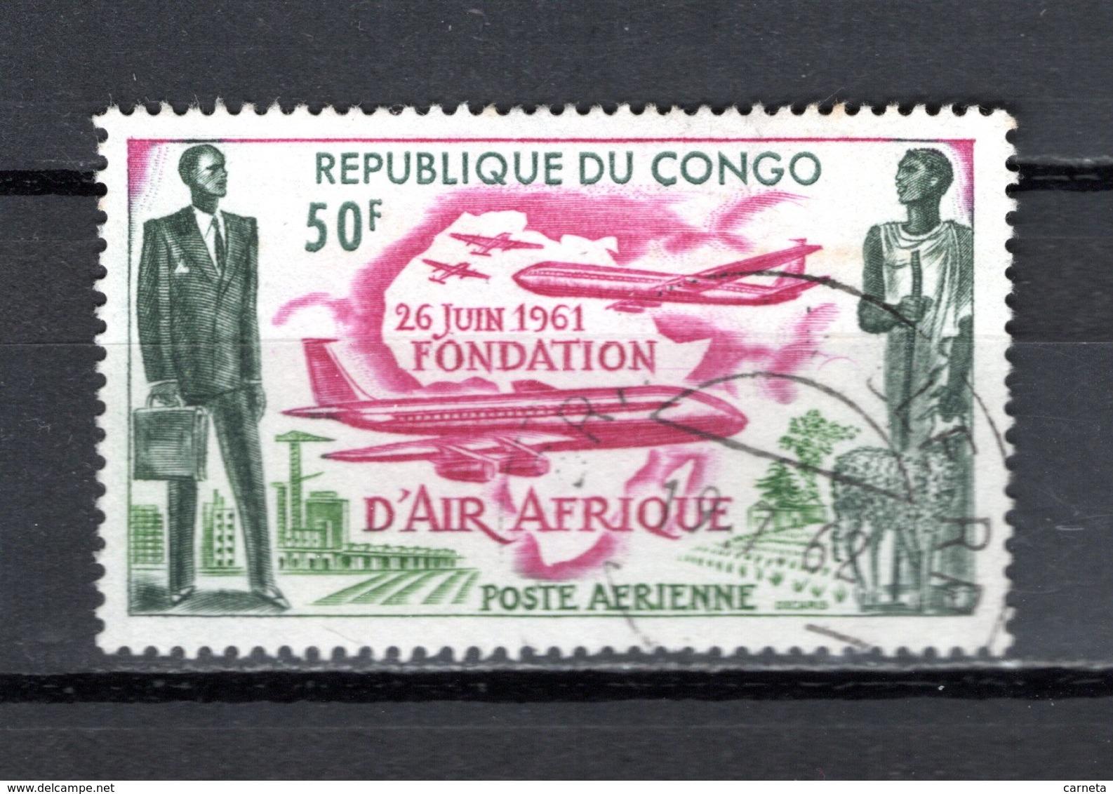 CONGO  PA  N° 5  OBLITERE  COTE  1.20€ AIR AFRIQUE  AVION - Oblitérés
