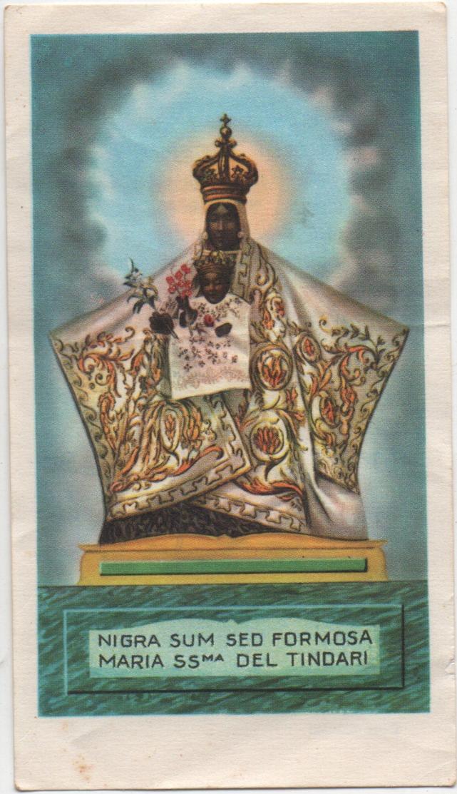 Santino Di Maria Santissima Di Tindari (Messina) - Images Religieuses
