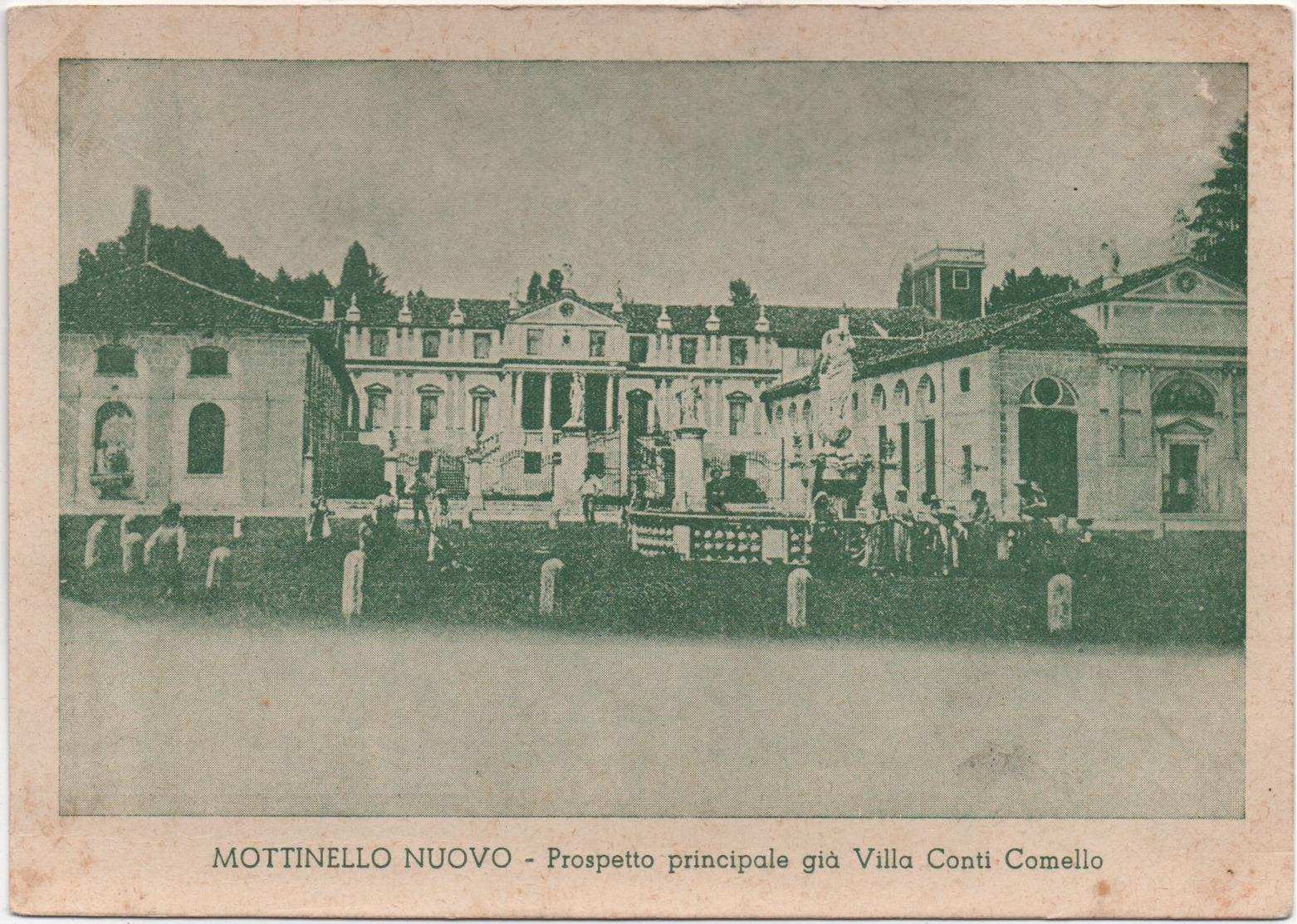 Mottinello Nuovo (Rossano Veneto, Vicenza - Galliera Veneta, Padova): Villa Conti Comello. Non Viaggiata - Vicenza