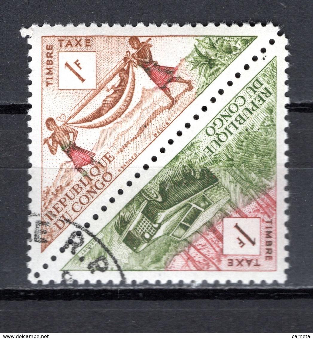 CONGO  TAXE  N° 36 + 37  OBLITERES  COTE  0.30€    TRANSPORT  VOITURE - Congo - Brazzaville