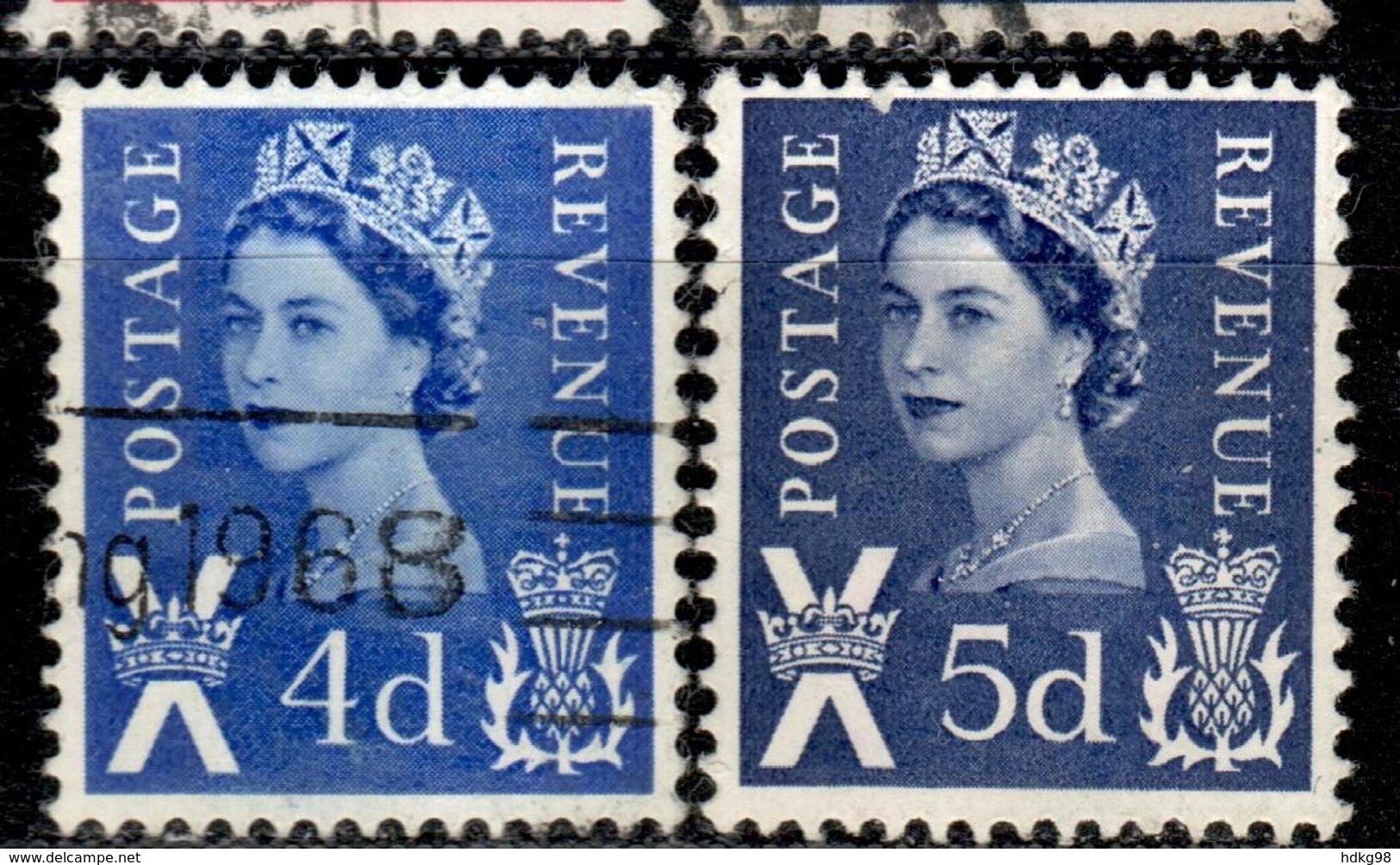 GBS+ Schottland 1967 1968 Mi 8 10 Elizabeth II. - Schottland