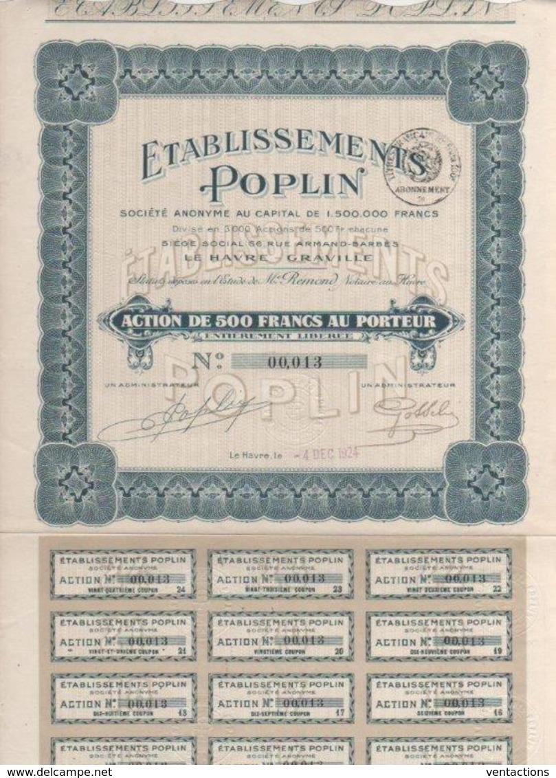 76-POPLIN. LE HAVRE - GRAVILLE. - Shareholdings