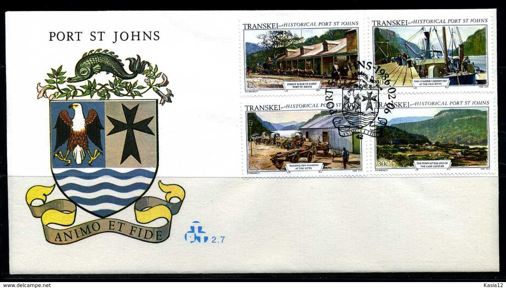 E01140)Transkei FDC 1180/3 Port St. Johns - Transkei