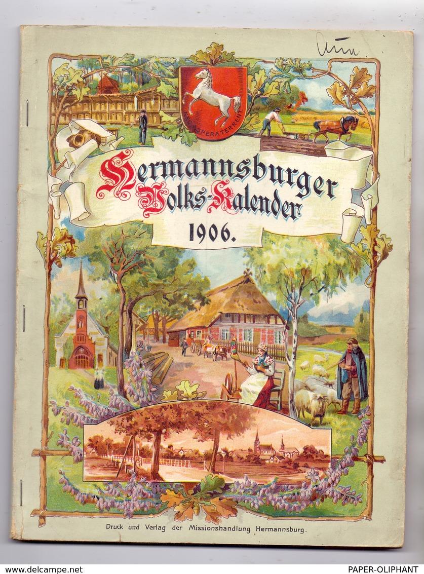 HERMANNSBURGER VOLKS-KALENDER 1906, Mission, 96 Seiten & 16 Seiten Anhang, Komplett Und In Sehr Guter Erhaltung - Christentum