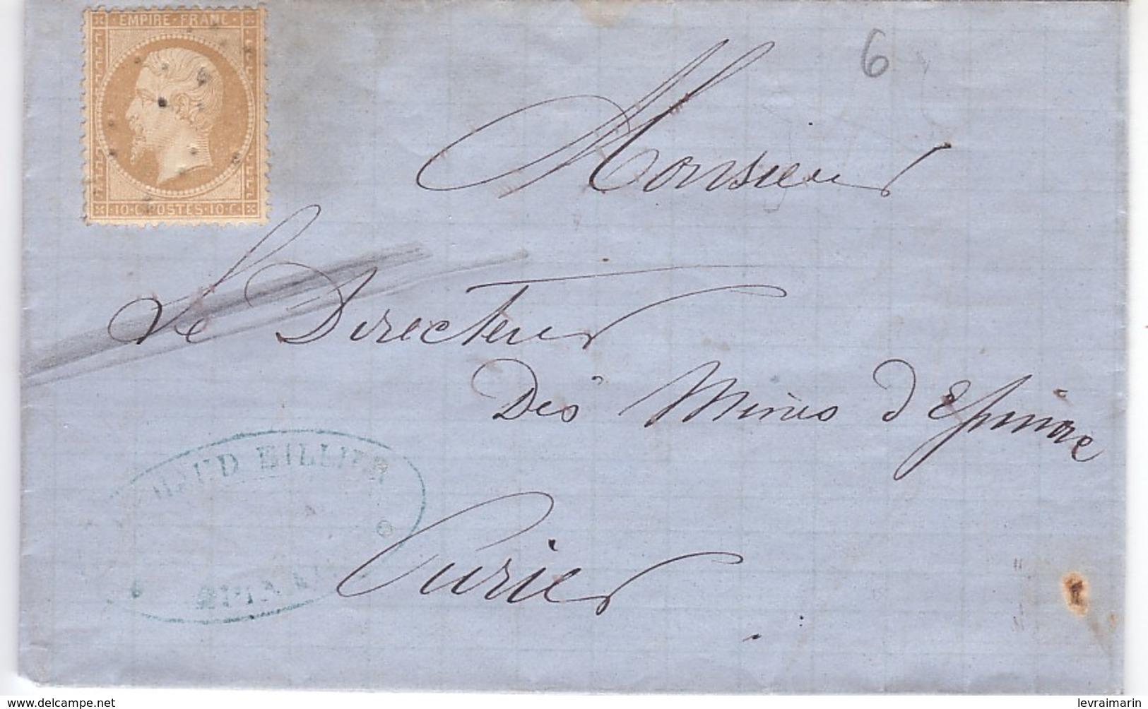 N°21 Oblitération Très Curieuse, Point à Sec, à Voir, TB - 1862 Napoleon III