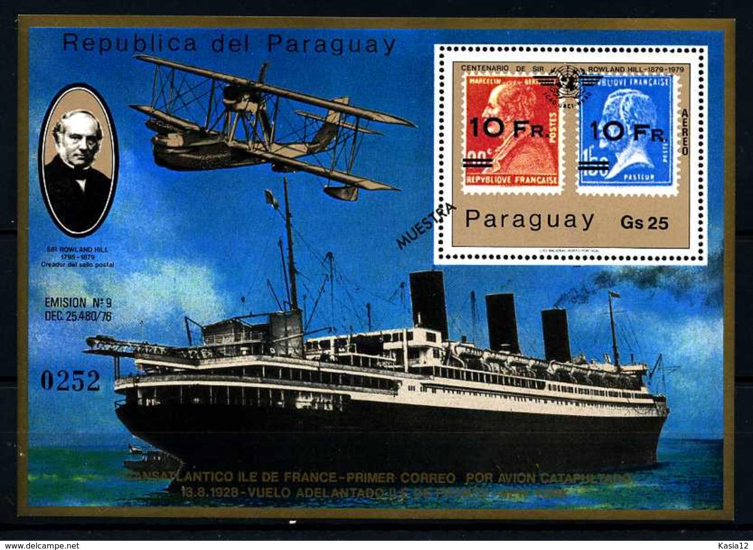 E09222)Schiffe, Paraguay Bl 342** - Schiffe