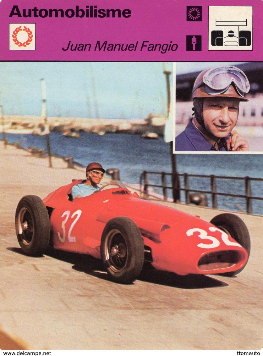 Juan Manuel Fangio  -  Pilote De Course  -  Maserati 250 Monaco GP  -  Fiche Automobilisme - Grand Prix / F1