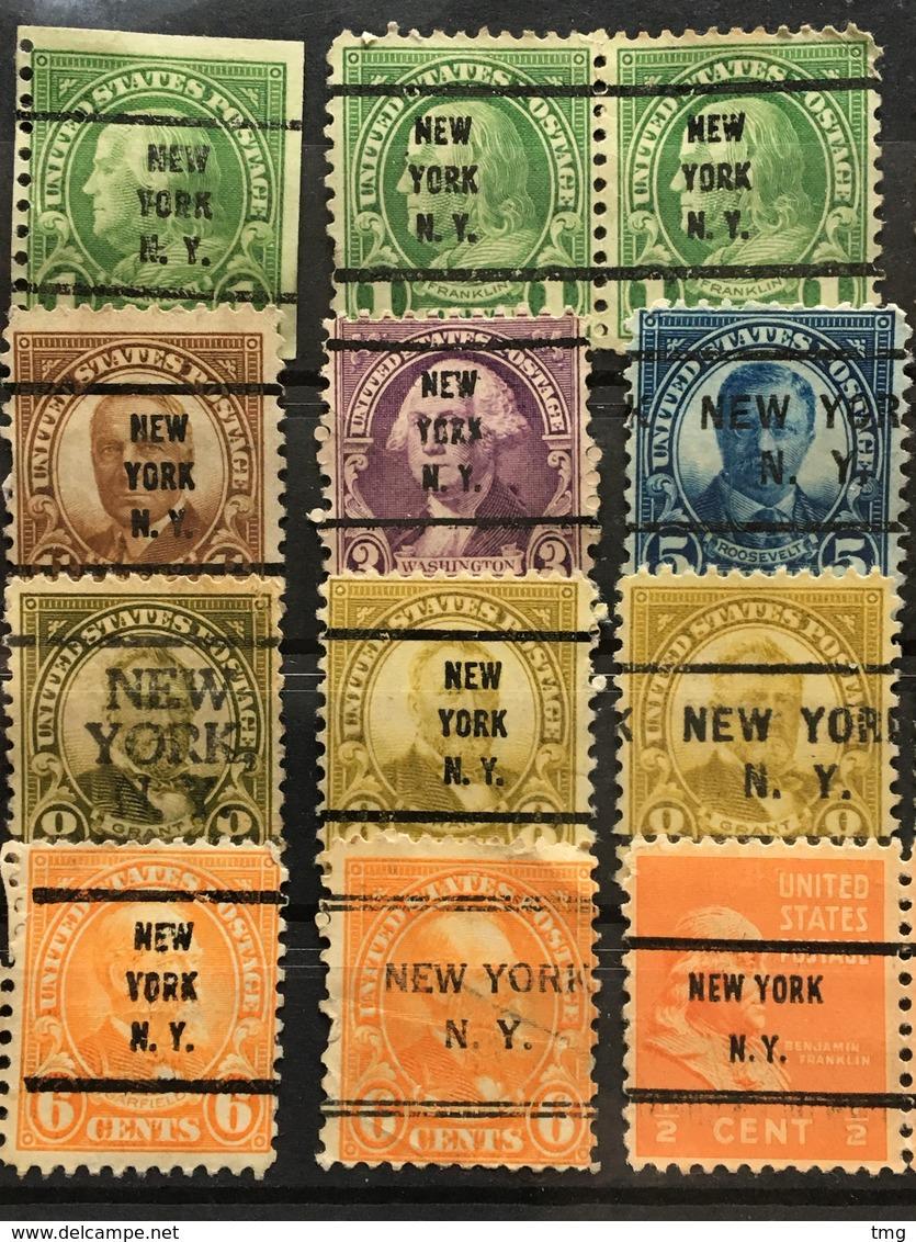 Préoblitérés Etats-Unis Precancel USA (°) 20 Stamps Various New York From YT 228 To 370 – 165 - United States