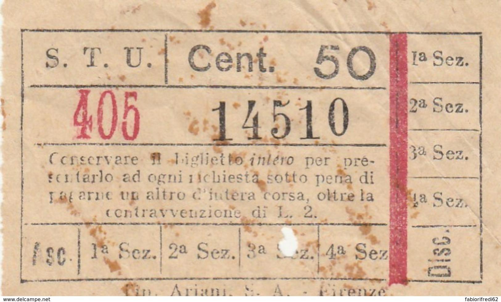 STU CENT.50 BIGLIETTO AUTOBUS (FX377 - Bus